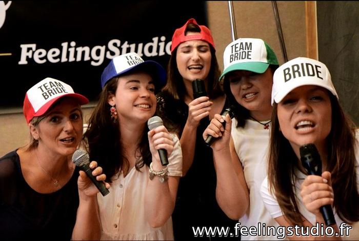 Enregistrer une chanson pour Enterrement de Vie de Jeune Fille Feeling Studio Lille - Gwendoline